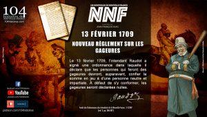 13 février 1709 - Nouveau règlement sur les gageures