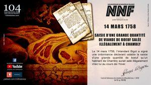 14 mars 1758 - Saisie de boeuf à Chambly