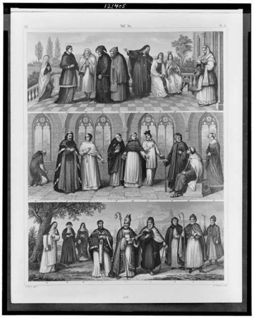 Three illustrations depicting saints - Library of Congress