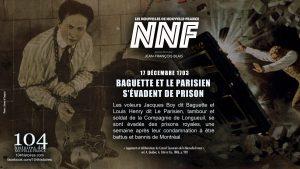 17 décembre 1703 - évasion de Baguette et Le Parisien