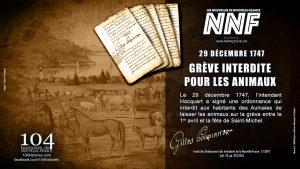 29 décembre 1747 - Interdit de laisser les animaux sur la grève
