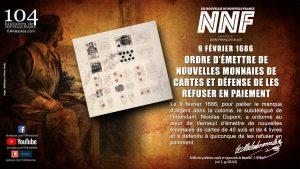 9 février 1686 - Nouvelle émission de monnaies de cartes en Nouvelle-France