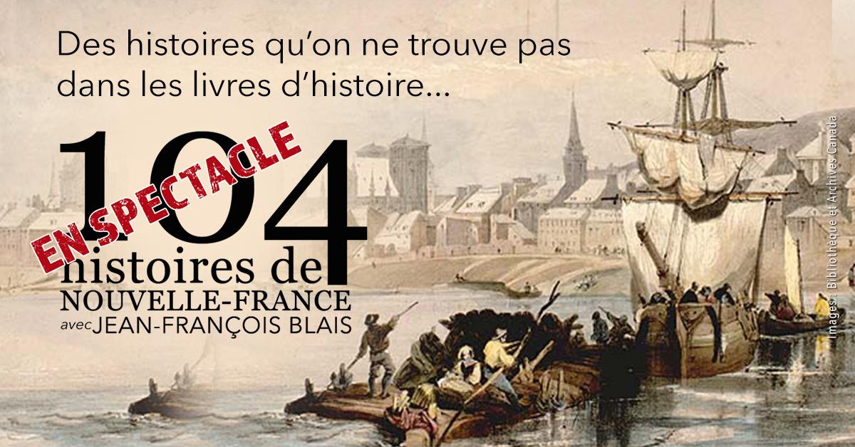 Site Internet de 104 histoires de Nouvelle-France