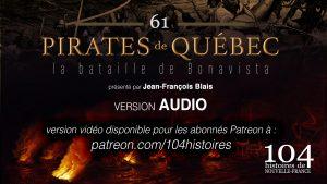 104 histoires de Nouvelle-France - 61 - Pirates de Québec