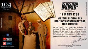 12 mars 1738 - Nouvelle-France, seigneurie de Beaumont