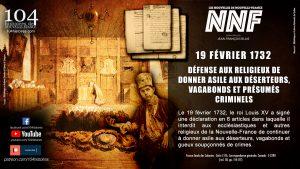 19 février 1732 - Défense aux religieux de donner asile