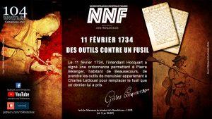11 février 1734 - Des outils contre un fusil